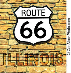 Route 66 Illinois sign