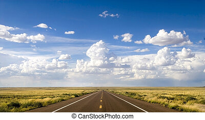 Route 66 in Arizona - Beautiful section of the historic...
