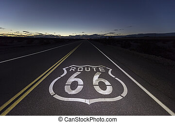 Route 66 Mojave Desert Night