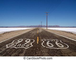 Route 66 Mojave Desert Salt Flats
