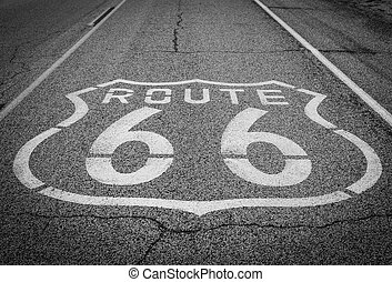 Route 66 - Famous Route 66 landmark on the road in...