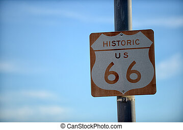 Route 66 Road Highway Sign