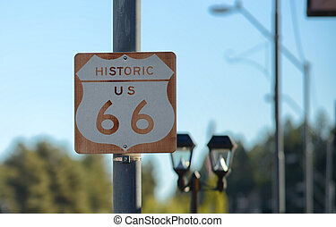 Route 66 Road Sign on the historic highway