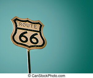 Route 66 road sign, USA