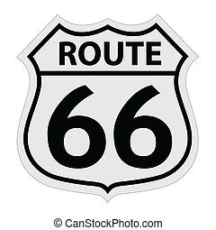Route 66 sign illustration - Route 66 sign vector ...