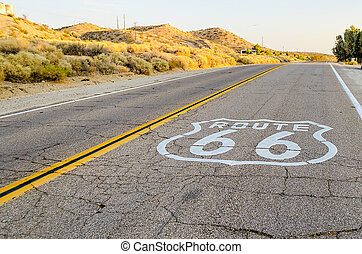 Route 66 sign in California