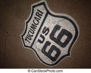 Route 66 sign in Tucumcari, New Mexico.