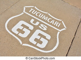 Route 66 sign in Tucumcari, New Mexico.