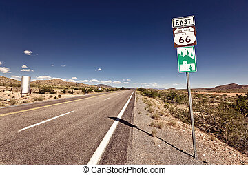 Route 66 sign somewhere in Arizona, USA