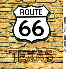 Route 66 Texas sign