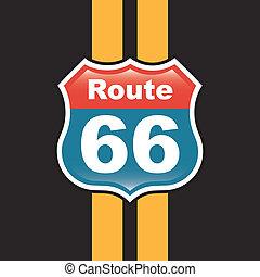 route 66 label over black background vector illustration
