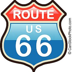 Route 66 vector sign