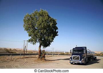 route, camion, usa, classique