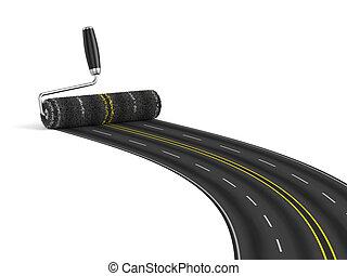route, concept, construction