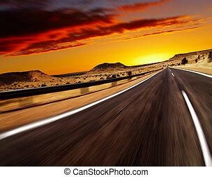 route, désert
