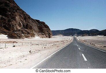 route, enroulement, paysage