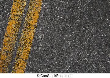 route, fond, marquages, texture, asphalte