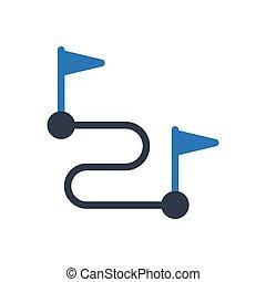 route glyph color icon