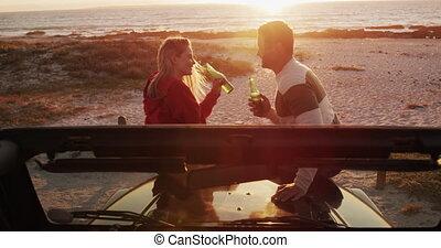 route, gratuite, couple, amour, ensemble, voyage, temps, ...