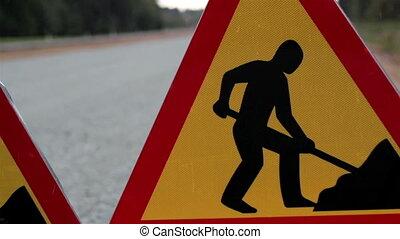 route, hommes, côté, fonctionnement, signe
