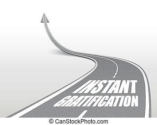 route, instant, satisfaction, mots, autoroute