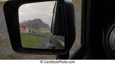 route, islande, campagne, conduite