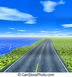 route, lakeside