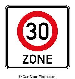 route, limite, signe vitesse, 274a1, allemand, début