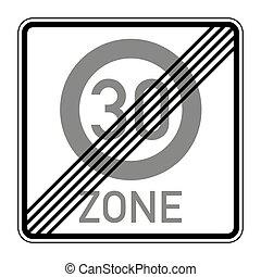 route, limite, signe vitesse, 274a2, fin, allemand