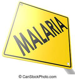 route, malaria, signe