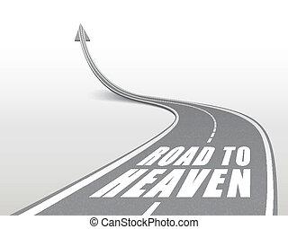 route, mots, autoroute, ciel