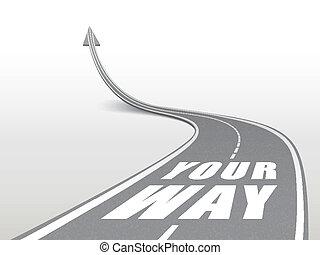 route, mots, autoroute, manière, ton