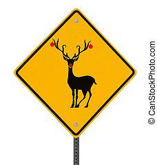route, noël, signe