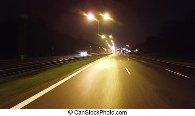 route, nuit, vide