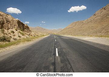 Route on the desert