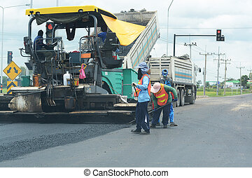 route, pavage, construction