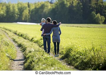 route pays, jeune famille
