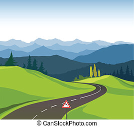 route, paysage