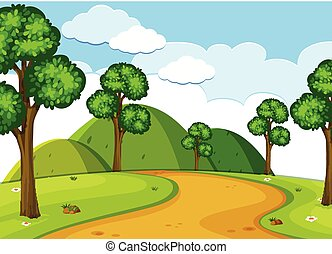 route, paysage, nature