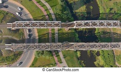 route, pont, jonction, ferroviaire