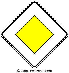 route, principal, 306, signe, allemand