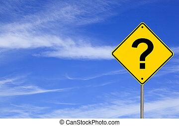 route, question, signe, marque