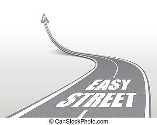 route, rue, mots, autoroute, facile