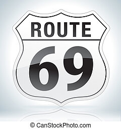 Route Sixty Nine Sign
