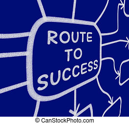 Route To Success Diagram Meaning Direction Of Progress And Achievement