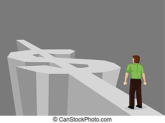 route, vecteur, richesse, illustration, dessin animé