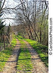 route, village