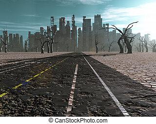 route ville, mort