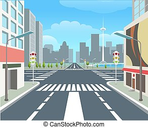 route ville, rue, urbain