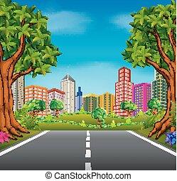 route ville